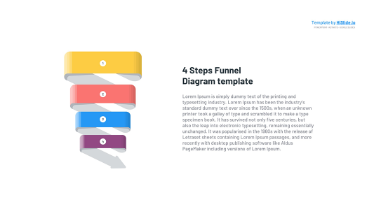 4 stages Funnel in Keynote