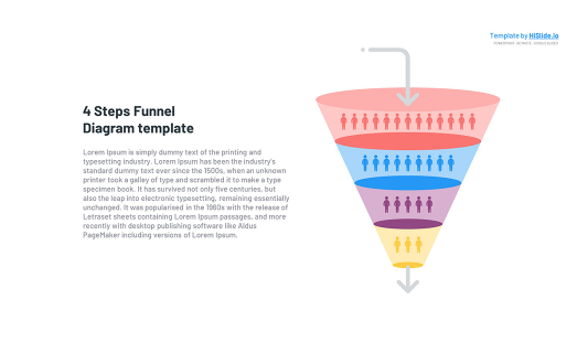 Funnel Conversion 4 Stages Keynote