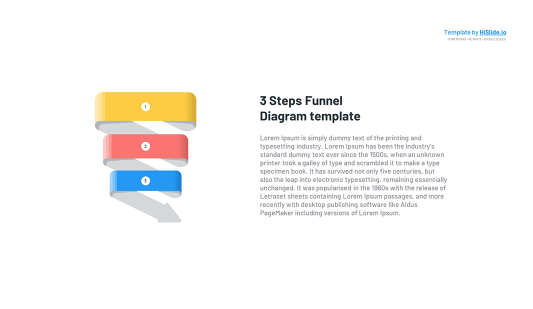 3 stages Funnel in Google slides