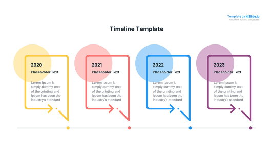 Time line Google slides template