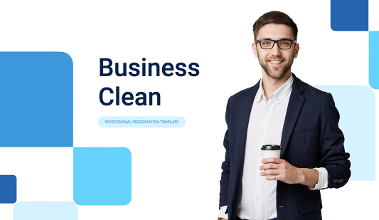 Business Clean Google slides template free