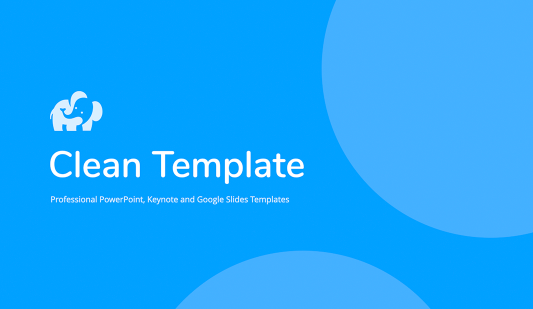 Clean Powerpoint template free