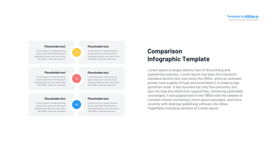 Free Comparison template for Keynote