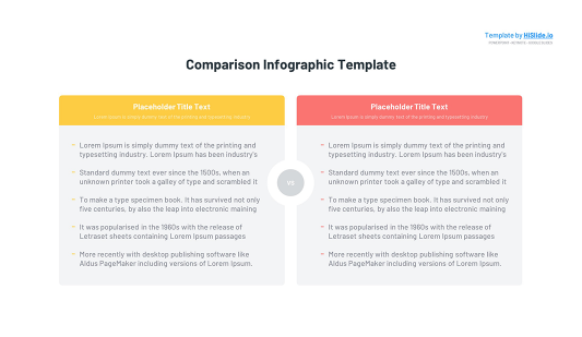 Comparison table Keynote template