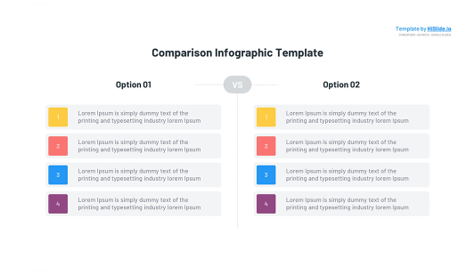 Comparison table template for Keynote