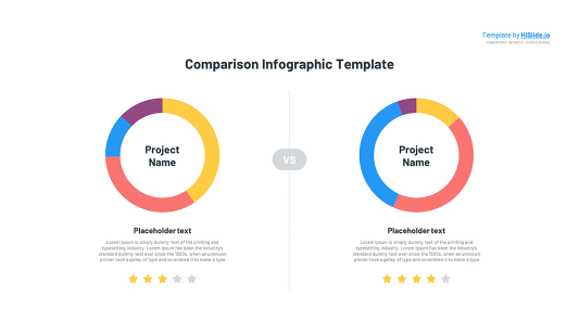 Comparison chart in Keynote template