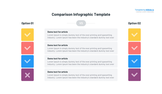 Product comparison Keynote template