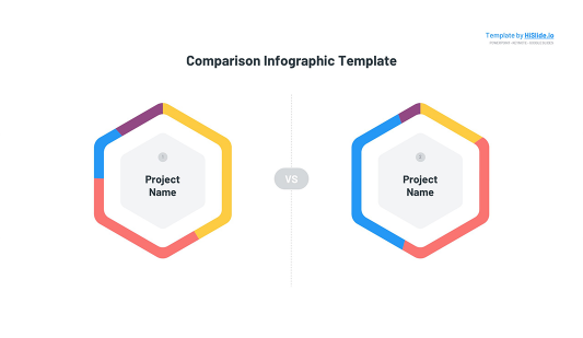 Comparison infographic chart Keynote template